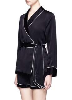Equipment 'Odette' wrap front silk pyjama top