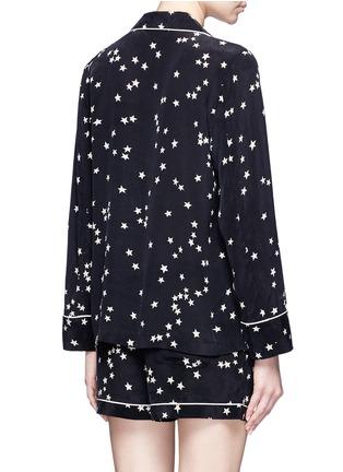 Back View - Click To Enlarge - Equipment - 'Lillian' star print silk pyjama set