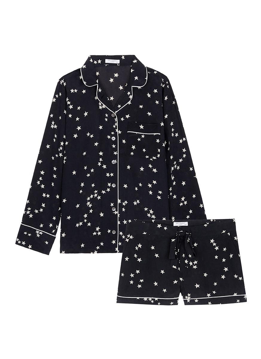 Lillian star print silk pyjama set by Equipment