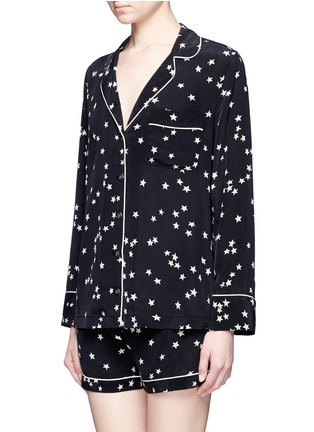 Figure View - Click To Enlarge - Equipment - 'Lillian' star print silk pyjama set