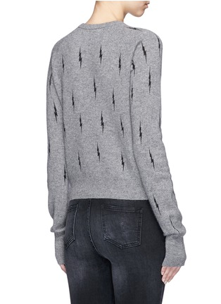 Back View - Click To Enlarge - Equipment - x Kate Moss 'Ryder' lightning intarsia cashmere sweater