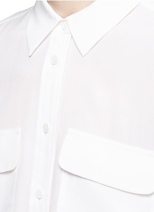Detail View - Click To Enlarge - Equipment - 'Signature' 3/4 sleeve cropped silk shirt