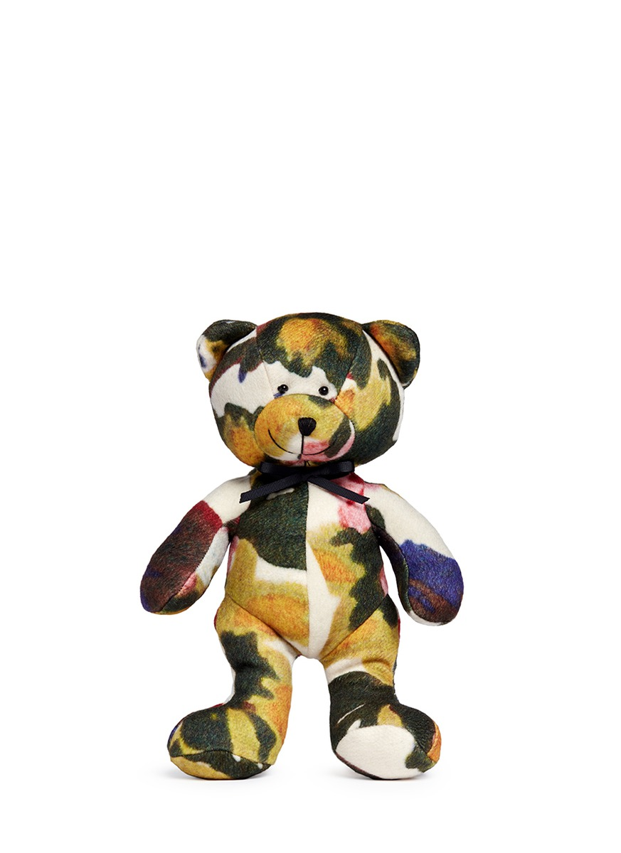 Abstract floral print teddy bear by Ms MIN