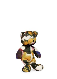 Ms MINAbstract floral print teddy bear