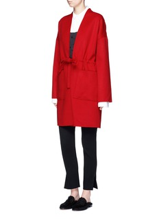 Ms MIN Drawstring waist double faced wool-cashmere coat