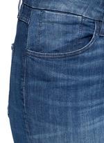 'W3' frayed cuff cropped skinny jeans