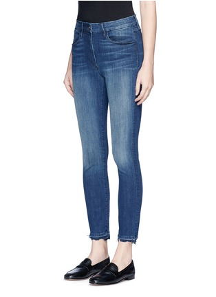 Front View - Click To Enlarge - 3x1 - 'W3' frayed cuff cropped skinny jeans