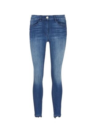 Main View - Click To Enlarge - 3x1 - 'W3' frayed cuff cropped skinny jeans
