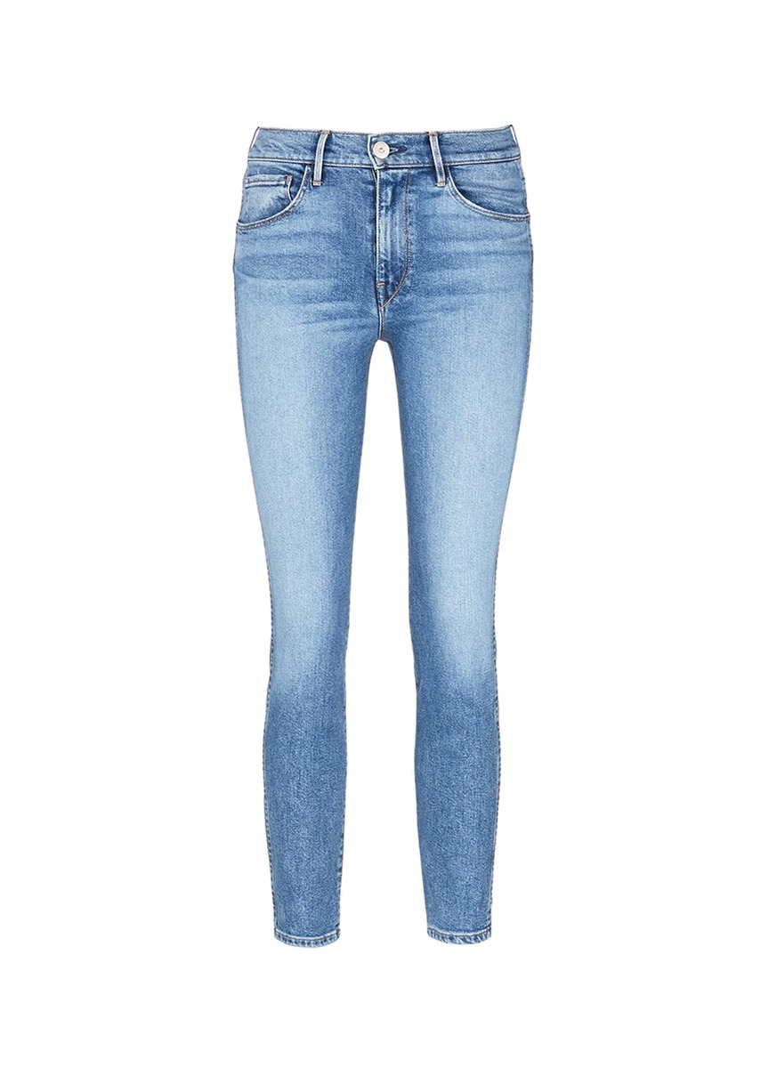 W3 distressed cuff cropped jeans by 3×1
