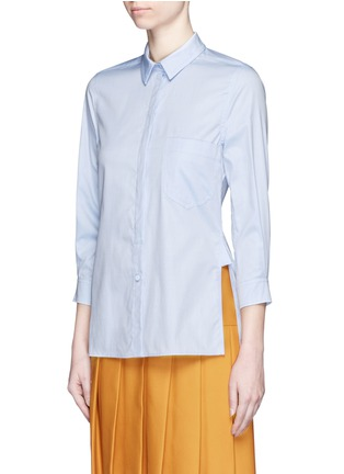 Front View - Click To Enlarge - Gucci - Side split Oxford cloth shirt