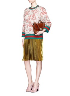 Gucci Lurex voile pleated skirt