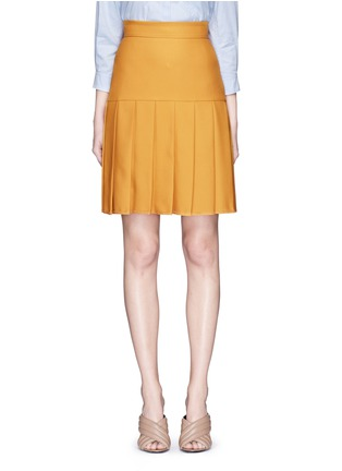 Main View - Click To Enlarge - Gucci - Silk-wool crepe pleat hem skirt