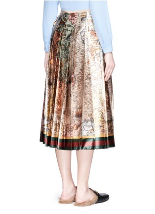 Back View - Click To Enlarge - Gucci - 'Sea Map' print silk duchesse satin skirt