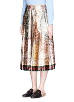 'Sea Map' print silk duchesse satin skirt