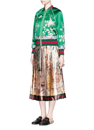Figure View - Click To Enlarge - Gucci - 'Sea Map' print silk duchesse satin skirt
