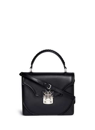Main View - Click To Enlarge - Alexander McQueen - Crystal pavé starburst medallion leather satchel