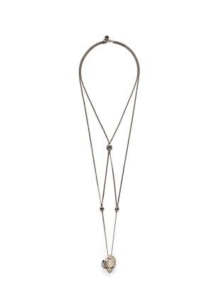 Main View - Click To Enlarge - Alexander McQueen - Swarovski crystal pavé spider skull harness necklace
