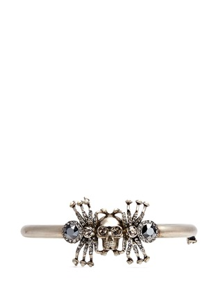 Main View - Click To Enlarge - Alexander McQueen - Crystal spider skull bracelet