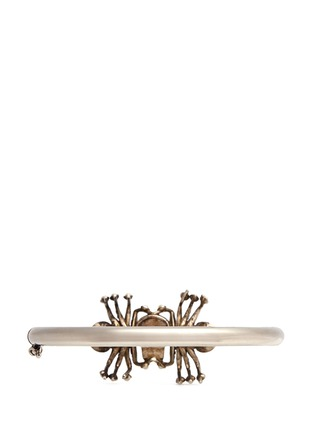 Figure View - Click To Enlarge - Alexander McQueen - Crystal spider skull bracelet
