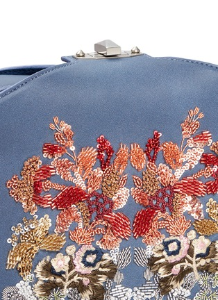 Detail View - Click To Enlarge - Alexander McQueen - 'The Box Bag' in sequin floral embroidery