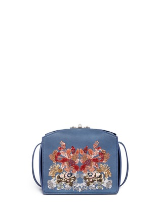 Main View - Click To Enlarge - Alexander McQueen - 'The Box Bag' in sequin floral embroidery