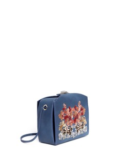ALEXANDER MCQUEEN 'The Box Bag' in sequin floral embroidery