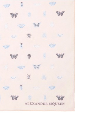 Detail View - Click To Enlarge - Alexander McQueen - Skull mini bug print silk scarf