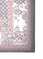 Daisy skull print silk scarf