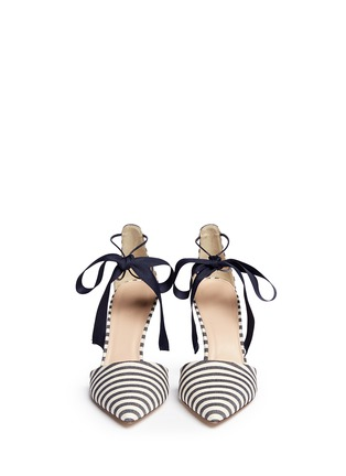 Front View - Click To Enlarge - J CREW SHOES - 'Elsie' bow-tie pumps