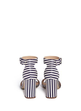 Back View - Click To Enlarge - J CREW SHOES - Striped strappy high-heel sandals