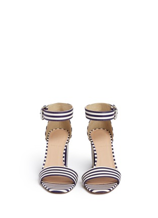 Front View - Click To Enlarge - J CREW SHOES - Striped strappy high-heel sandals