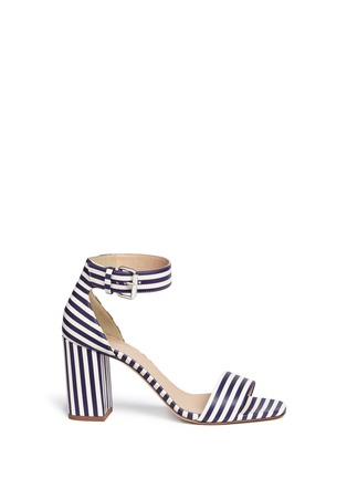 Main View - Click To Enlarge - J CREW SHOES - Striped strappy high-heel sandals