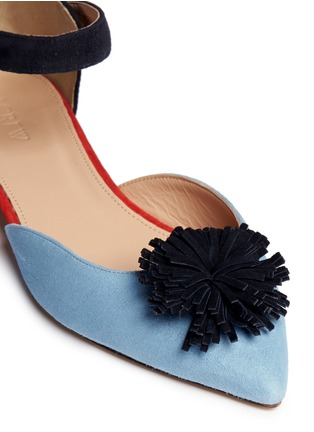 Detail View - Click To Enlarge - J.CREW - Colourblock flats with pompoms