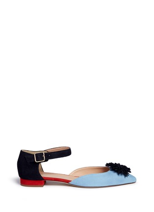 Main View - Click To Enlarge - J.CREW - Colourblock flats with pompoms