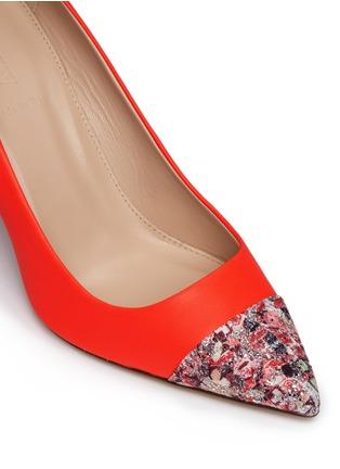 Detail View - Click To Enlarge - J.CREW - 'Elsie' glitter mosaic cap-toe pumps