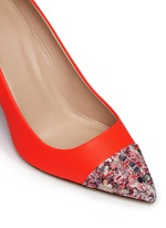 'Elsie' glitter mosaic cap-toe pumps
