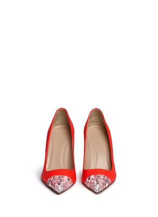 Front View - Click To Enlarge - J.CREW - 'Elsie' glitter mosaic cap-toe pumps