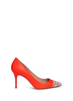 Main View - Click To Enlarge - J.CREW - 'Elsie' glitter mosaic cap-toe pumps