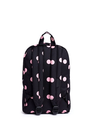 Back View - Click To Enlarge - The Herschel Supply Co. Brand - 'Heritage' polka dot print kids backpack