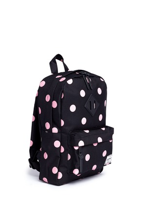 Figure View - Click To Enlarge - The Herschel Supply Co. Brand - 'Heritage' polka dot print kids backpack