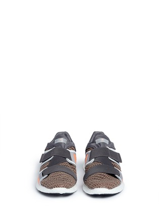 Front View - Click To Enlarge - Adidas By Stella Mccartney - 'Pureboost' mesh window running sneakers