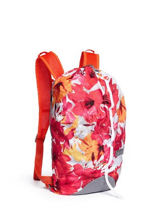 Front View - Click To Enlarge - Adidas By Stella Mccartney - 'BP-Shopper PR' floral print backpack