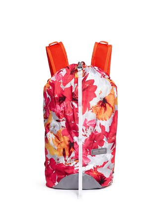 Main View - Click To Enlarge - Adidas By Stella Mccartney - 'BP-Shopper PR' floral print backpack