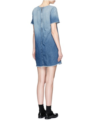 Back View - Click To Enlarge - Current/Elliott - 'The Frayed Edge' denim dress