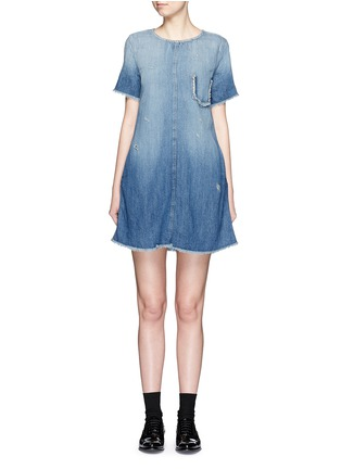 Main View - Click To Enlarge - Current/Elliott - 'The Frayed Edge' denim dress
