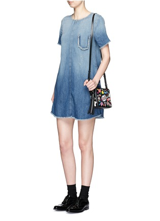 Figure View - Click To Enlarge - Current/Elliott - 'The Frayed Edge' denim dress
