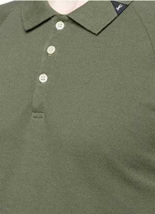 Denham-'Joey' raglan sleeve stripe polo T-shirt