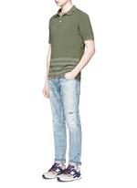 'Joey' raglan sleeve stripe polo T-shirt