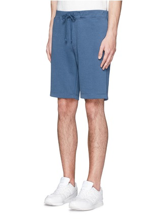Front View - Click To Enlarge - Denham - 'Roy' cotton sweat shorts
