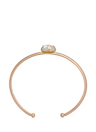 Main View - Click To Enlarge - Isabel Marant - 'Jacques' stone cabochon brass cuff